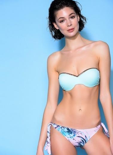 Loves You Pırıltı Şeritli Bikini Takım Yeşil